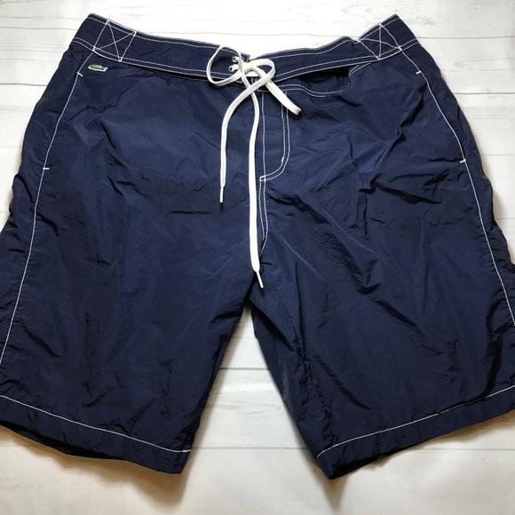 e4df9eb4e081 Lacoste Other - LACOSTE MEN S Swim Trunks Swimwear shorts Blue XL
